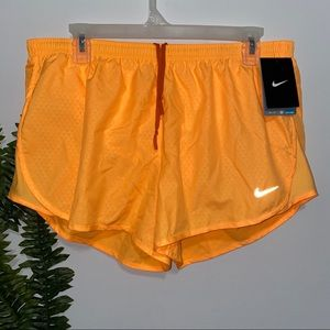 Nike Dri Fit Running Shorts Orange L NEW